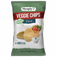 Simply 7 Organic Ranch Veggie Chips, 4 Ounce -- 12 per case.