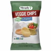 Simply 7 Organic Original Veggie Chips, 4 Ounce -- 6 per case.