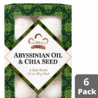Nubian Heritage Abyssinian Oil & Chia Seed Bath Bomb 6 Count