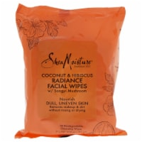 Shea Moisture Coconut & Hibiscus Radiance Facial Wipes 30 pc - 30 pc