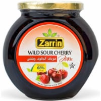 Zarrin - Wild Sour Cherry Preserve, 31.7 oz (900g), Contains 65% of Pitted Cherries