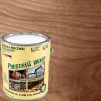 Preserva Wood  Semi-Transparent  Tahoma Brown  Oil-Based  Penetrating Wood Stain and Sealer - Case of: 4