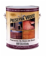Preserva Wood  Transparent  Sequoia  Oil-Based  Stain and Sealer  1 gal. - Case Of: 4; - Case of: 4