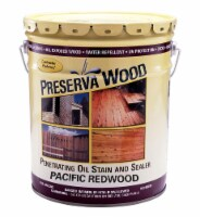 Preserva Wood  Transparent  Matte  Pacific Redwood  Oil-Based  Oil-Based  Stain and Sealer  5 - Count of: 1