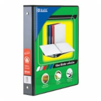 3-Ring View Binder with 2 Pockets, 1.5 , Black - 1