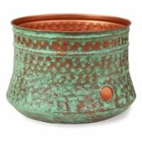 Liberty Garden LBG-1917-G Decorative Rustic Garden Hose Storage Pot, Patina - 1 Piece