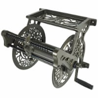 Liberty Garden Wall Mounted Heavy Gauge Aluminum Hanging Hose Reel with Guide - 1 Piece