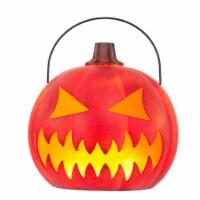 Holiday Home Halloween LED Flaming Pumpkin Lantern - 1 ct