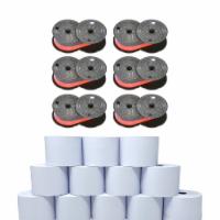 Monroe Supply Kit (6) P65M Ribbon Spools And (12) Rolls Of Premium 20 lb. Bond Paper - 1