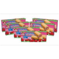 Strawberry Shortcake Rolls, 6 Boxes of 36 Individually Wrapped Fruit Filled Rolls - 36