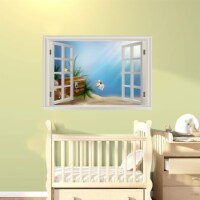 VWAQ Nursery Ocean Window Peel and Stick Wall Decals - NWT26 - 1