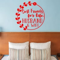 VWAQ Best Friends for Life Husband and Wife Marriage Wall Decal - 1