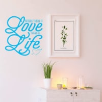 VWAQ Where There is Love There is Life Love Wall Decor - 1
