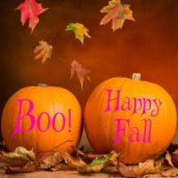 VWAQ Happy Fall & Boo! Pumpkin Holiday & Seasonal Decor - 1