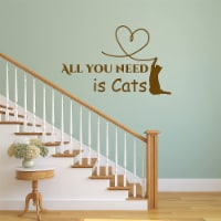 VWAQ All You Need is Cats Love Wall Decal - 1