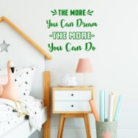 VWAQ The More You Can Dream The More You Can Do Motivational Wall Decal - 1
