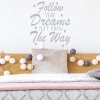 VWAQ Follow Your Dreams They Know The Way Motivational Wall Decals - 1