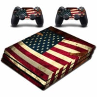 VWAQ American Flag PS4 Pro Skins For Console and Controllers - PPGC12 - 1