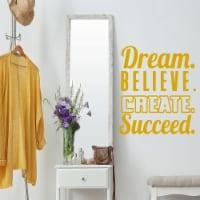 VWAQ Dream. Believe. Create. Succeed. Motivational Wall Decals - 1