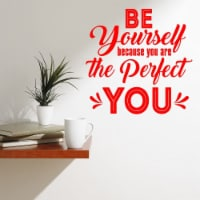 VWAQ Be Yourself Because You are The Perfect You Motivational Wall Decals - 1