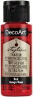 DecoArt Stylin Paint 2oz-Red - 1