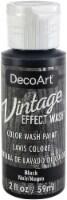 DecoArt Vintage Effect Wash Paint 2oz-Black - 1