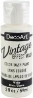 DecoArt Vintage Effect Wash Paint 2oz-White - 1