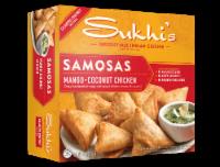 Sukhi's Chicken Samosas with Cilantro Chutney