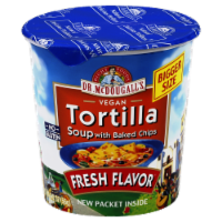 Dr. McDougall's Vegan Tortilla Soup With Baked Chips