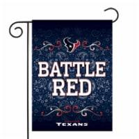 Rico GF0601 13 x 18 in. NFL Houston Texans Garden Flag