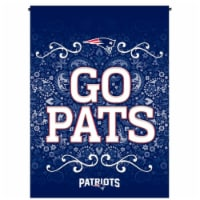 Rico GF1501 13 x 18 in. NFL New England Patriots Garden Flag