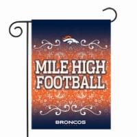 Rico GF1601 13 x 18 in. NFL Denver Broncos Garden Flag