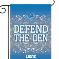 Rico GF2401 13 x 18 in. NFL Detroit Lions Garden Flag