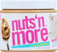 Nuts N More  High Protein + Peanut Spread   Birthday Cake