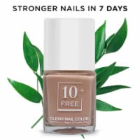10FREE Polish+Nail Growth Serum STRONGER NAILS IN 7 DAYS - HAPPY WHEN I'M NUDE - Long-Wear 15ml/.5floz