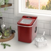 Kumo Countertop Portable Ice Maker Machine 9 Ice Cubes Ready in 6 Mins Makes 26 lbs Ice/24h