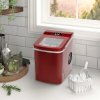 Kumo Countertop Portable Ice Maker Machine 9 Ice Cubes Ready in 6 Mins Makes 26 lbs Ice/24h - 1 Unit