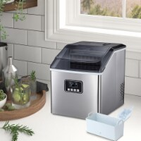 Kumo Portable Ice Maker Machine Countertop Makes 40 lbs Ice in 24 hrs Home Ice Making Machine - 1 Unit