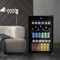 Beverage refrigerator or Wine Cooler with Glass Door 120 Can Mini Fridge freestanding - 1 Unit