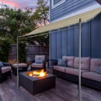 Kumo Sunshade Awning Gazebo Outdoor Patio Tilt Tent Canopy Shelter Steel Frame