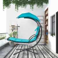Kumo Hanging Chaise Lounge Chair Canopy Floating Chaise Lounger Swing Hammock Chair - 1 unit