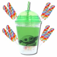 """Star Wars Mandalorian """"The Child"""" Tumbler with Mini Candy Lollipops - 1"""