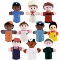 Get Ready Kids MTB469 Kids Community Helper Career Puppet, Set of 10
