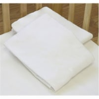 L A BABY 3004-MT Knitted Fitted Sheet For Compact Crib Natural 100% Cotton Fabric- Mint - 1
