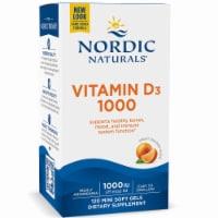 Nordic Naturals Vitamin D3 Soft Gels 250mg 1000 IU 120 Count