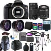 Canon Eos Rebel T6 Dslr Camera With 18-55mm Lens , 75-300mm Lens And Top Accessory Kit - 1