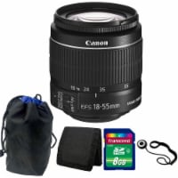 Canon Ef-s 18-55mm F/3.5-5.6 Is Ii Lens 8gb Accessory Kit For Canon T5 & T6 - 1