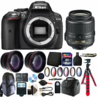 Nikon D5300 Dslr Camera With 18-55mm Vr Af-p Dx Nikkor Lens And Accessory Kit