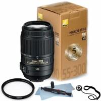 Nikon Af-s Dx Nikkor 55-300mm F/4.5-5.6g Ed Vr Lens + 58mm Uv & Top Accessories