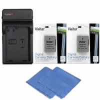 2x Enel 14 Replacement Battery + Charger For Nikon D3500 D5600 D3400 D3300 D5500